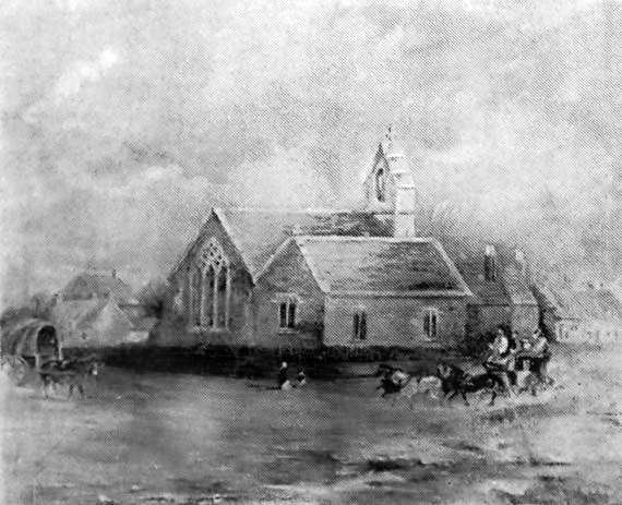 A picture of the old church from the main road.