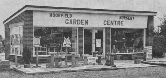Moorfields Garden Centre pictured in 1964
