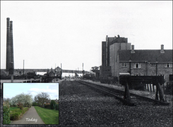 In 1961 the line from Dogsthorpe to Rhubarb bridge was removed, the section left was only kept open to service the brickyards.