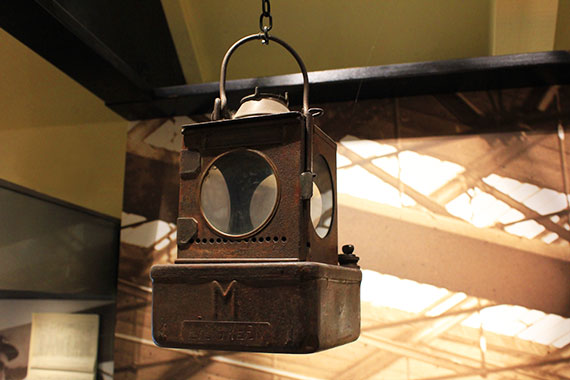 A lamp from the station at Peterborough Museum