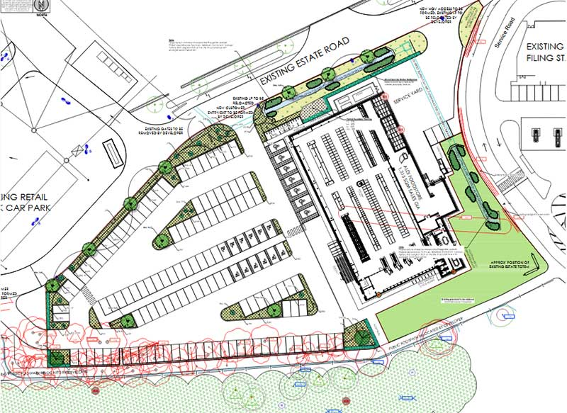 Plans for new Aldi at PE1 Retail Park